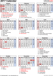2017 us calendar printable 2017 calendar download 17 free printable excel templates xlsx