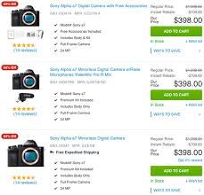 amazon lg 55 4k black friday 398 deal of the day sony a7 for 398 photo rumors