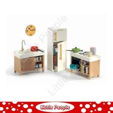 dolls house kitchen furniture djeco kitchen dolls house furniture 1 16 ebay