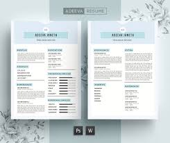 Full Resume Template Simple Resume Template Janeth Resume Templates Creative Market