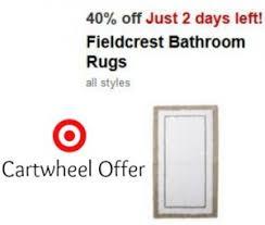 Fieldcrest Bathroom Rugs Target Cartwheel Offer 40 Fieldcrest Bathroom Rugs