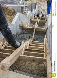 pouring concrete steps 4 stock photography image 33537352 curved