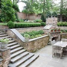 Simple Backyard Landscaping Ideas On A Budget by Best 25 Sloped Backyard Ideas On Pinterest Sloping Backyard