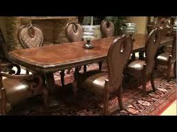 michael amini dining table the sovereign rectangular double pedestal dining table by michael
