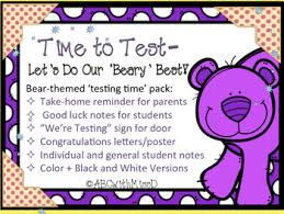 testing reminder rhymes reminder handouts for parents good luck