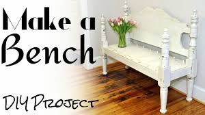 How To Convert A Crib Into A Twin Bed by Make A Bench From A Bed Diy Project Youtube