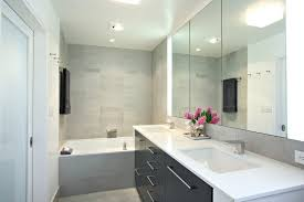 los angeles large bathroom mirror contemporary with gray stone