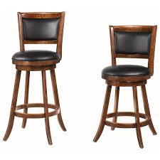 29 Bar Stools With Back Coaster Furniture 101920 29 H Swivel Bar Stool In Chestnut Set