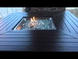best fire pit table best choice products gas powered fire pit table youtube