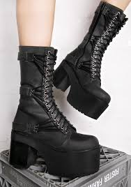 laced motorcycle boots current mood straight laced leather boots dolls kill