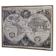 Wall Art World Map by Linen World Map Wall Art