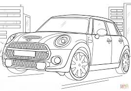 mini cooper coloring page free printable coloring pages