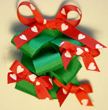 how to make a christmas tree hairbow tutorial youtube