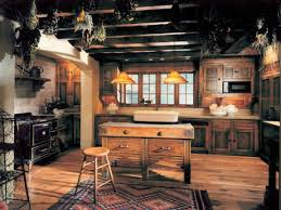 rustic style kitchen beige floor tiles ceiling lights cape cod