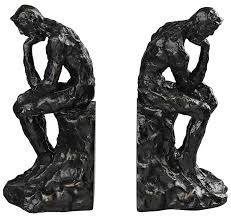 amazon com sterling 87 8009 composite thinking man bookends