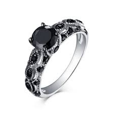 black sapphire engagement rings cut 925 sterling silver black sapphire engagement rings