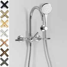 astra walker icon lever bath mixer with multi function hand