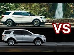 ford explorer vs chevy tahoe 2018 ford explorer vs 2018 land rover discovery design