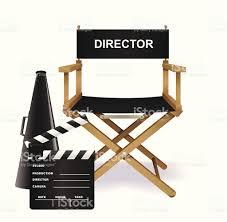 chaise cinema enfant directors fauteuil de stock vecteur libres de droits 165746199