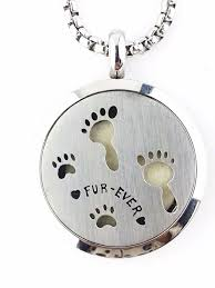 essential oil diffuser necklace paw print diffuser necklace