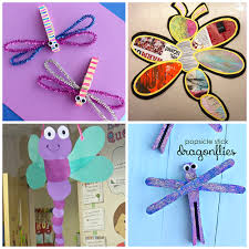 Paper Craft Designs For Kids - colorful dragonfly craft ideas for kids crafty morning
