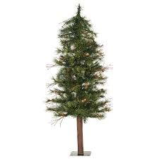 shop vickerman 4 ft alpine slim artificial tree at lowes