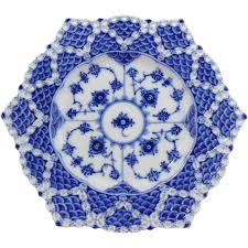 royal copenhagen blue fluted lace plate from