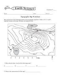 printables topographic maps worksheet ronleyba worksheets printables