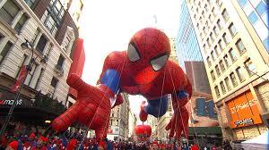 spiderman thanksgiving millions enjoy thanksgiving festivities across us video on