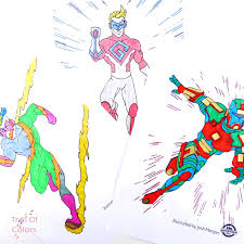 superhero coloring pages kids trail colors