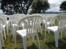 white plastic stacking chairs for hire rent or rental in pataua