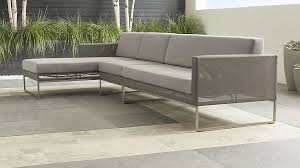 crate and barrel sofa sleeper dune outdoor 3 piece sofa crate and barrel