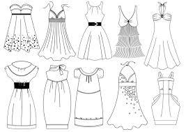 Coloriage mode robes dété