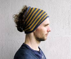 hairband men mens headband striped hair wrap dread band guys knit hair wrap