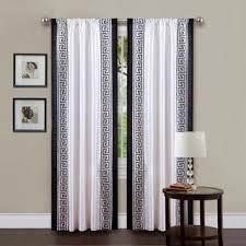 Black Linen Curtains Happy Chic By Jonathan Adler Elizabeth Faux Linen Curtain Panel I