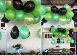 minecraft balloons floating balloons from the ceiling party idea play and go