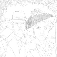 national coloring book day free download downton abbey coloring