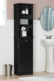 Black Painted Bathroom Cabinets Bathroom Ceiling To Floor Brown Varnished Mahogany Wood Bathroom