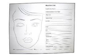 face chart pad makeup guide 50 sheets taries world