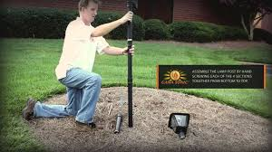 Outdoor Solar Lamp Post by Baytown Solar Lamp Post With Ez Anchor Installation Movie With