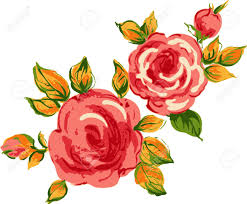 background roses floral design royalty free cliparts