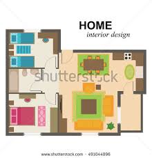 ground floor plan floorplan house home stock vector 74222734