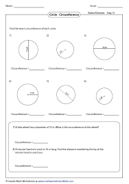 Segment Lengths In Circles Worksheet Answers Circumference And Area Of Circle Worksheets