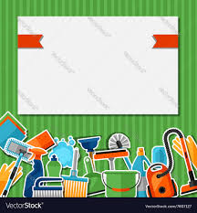 House Keeping by Housekeeping Background With Cleaning Sticker Vector Image
