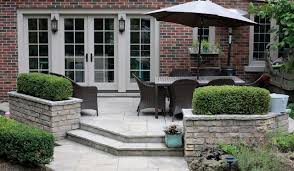 Building Stone Patio by Flagstone Patio With Natural Stone Planters Traditional Patio