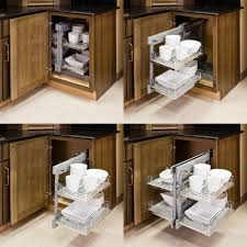 Kitchen Cabinet Interior Organizers by Blind Corner Organizers Get Use Out Of The Empty Wasted Space In