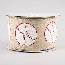 baseball ribbon 2 5 linen baseball ribbon 10 yards 255001 craftoutlet