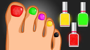 learn colors with surprise nail art foot design colours finger