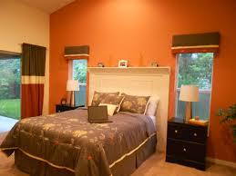Orange Bedroom Decorating Ideas by Orange Wall Decor Ideas Zampco Simple Brown And Orange Bedroom