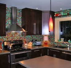 kitchen backsplash colors colorful kitchen backsplash logischo